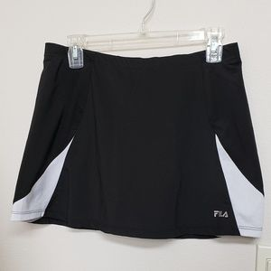 Fila Black & White Tennis Skirt, attached Short